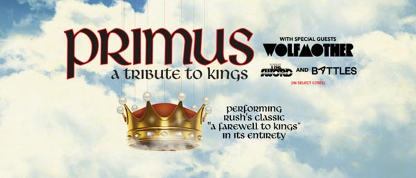 """Primus To Perform Rush's """"A Farewell To Kings"""" This Summer"""