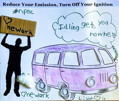 "Newark Public Safety Collaborative Announces Winner of ""Reduce Your Emission, Turn Off Your Ignition"" Poster Contest"