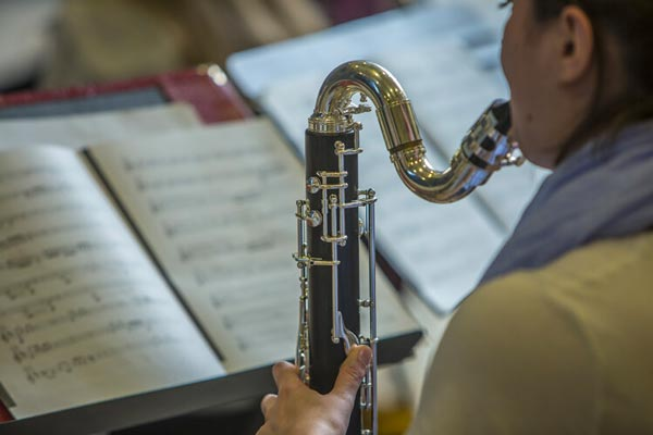 And the Music Plays On: Rowan Students and Instruments Mask Up for New School Year