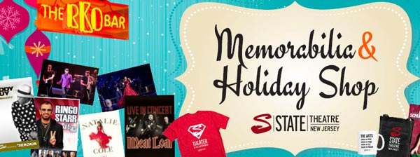State Theatre New Jersey Announces Memorabilia & Holiday Shop