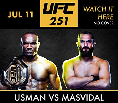 Food and Fights with UFC 251 Saturday at Game Time Bar and Grill