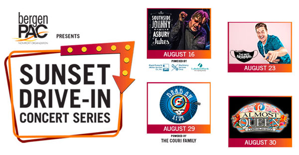 BergenPAC Announces Sunset Drive-In Concert Series