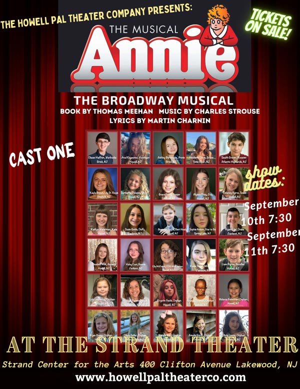 """The Howell PAL Theater Company Presents """"Annie"""" at The Strand"""