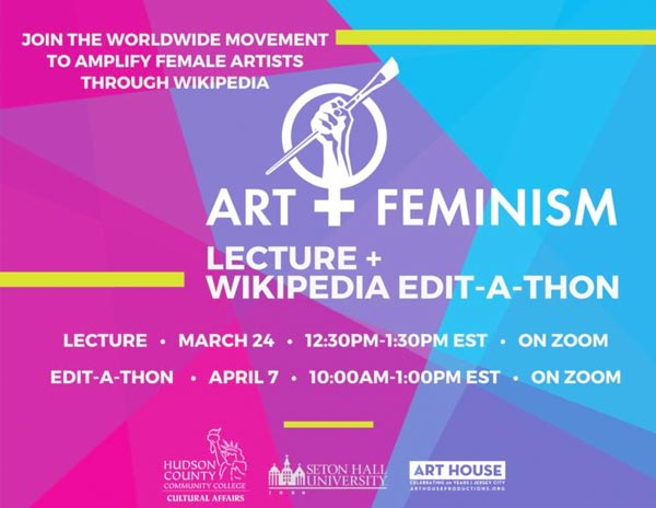 Art+Feminism Lecture On March 24