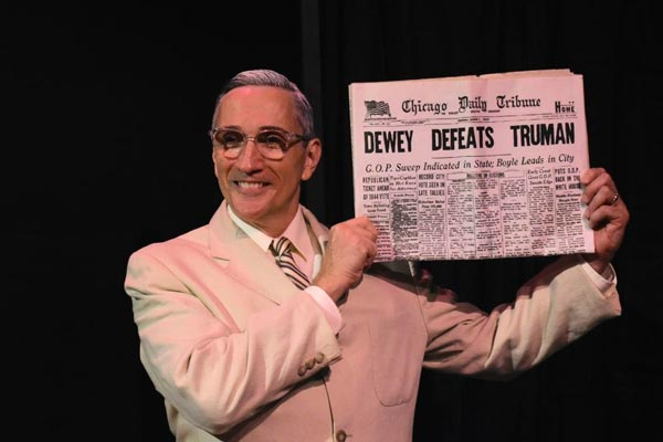 """Clifton Truman Daniel portrays President Harry Truman in """"Give 'Em Hell, Harry!"""" on October 10th"""