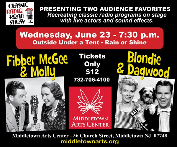 Classic Radio Road Show Returns to Live Performances at the Middletown Arts Center on June 23