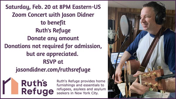 Jason Didner to Stage an Online Rock Concert for Refugees on February 20