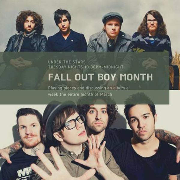 "WSOU'S Under The Stars Begins ""Fall Out Boy Month"""