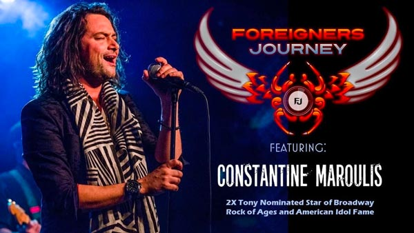 BergenPAC Presents Foreigners Journey featuring Constantine Maroulis On September 25th