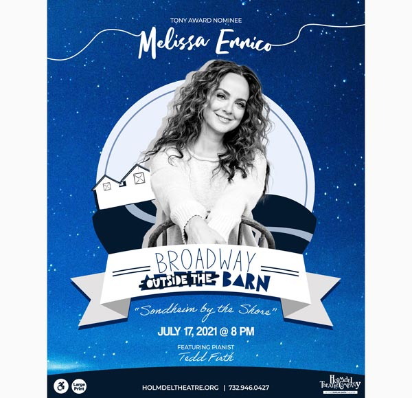 Holmdel Theatre Company Presents MELISSA ERRICO: Sondheim by the Shore On July 17