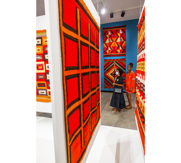 Navajo weavings at Montclair Art Museum reveal innovations in color and abstraction