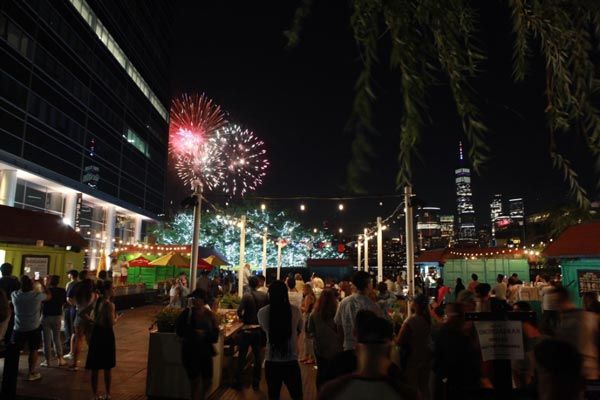 Smorgasbar Beer Garden Opens at Harborside on the Jersey City riverfront