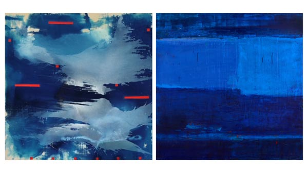 """The Arts Council of Princeton presents """"Talk to Me"""" Abstract Paintings by Janet Filomeno and Katherine Parker"""