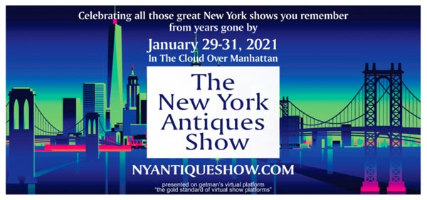 New York Antiques Show To Be Presented Online January 29-31