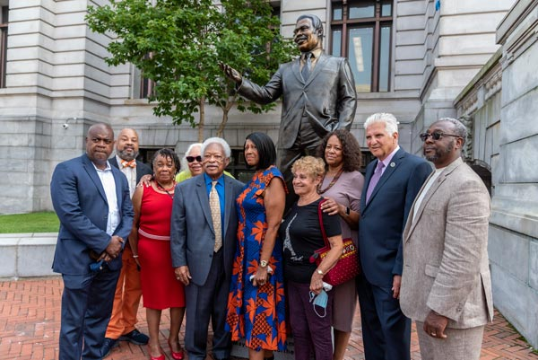 Statue of Newark Mayor Kenneth Gibson Unveiled In Front of City Hall
