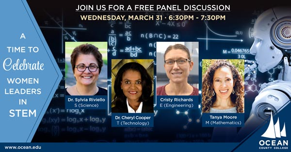 Ocean County College Presents Women Leaders in STEM — A Panel Discussion On March 31
