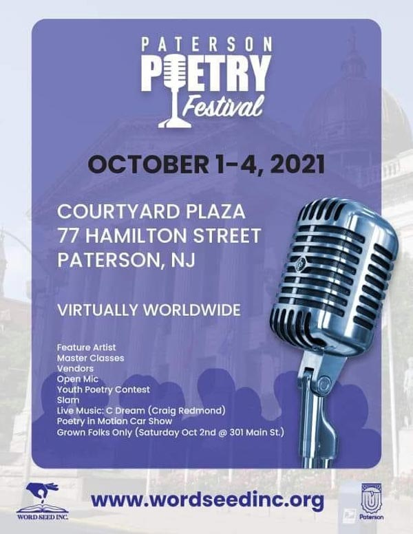 2021 Paterson Poetry Festival To Run October 1-4