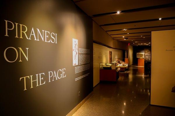"Ellen and Leonard Milberg Gallery Presents ""Piranesi on the Page"""