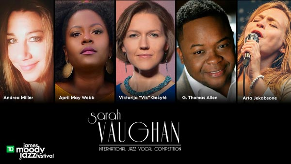 The 10th Annual Sarah Vaughan International Jazz Vocal Competition Selects Top Five Finalists