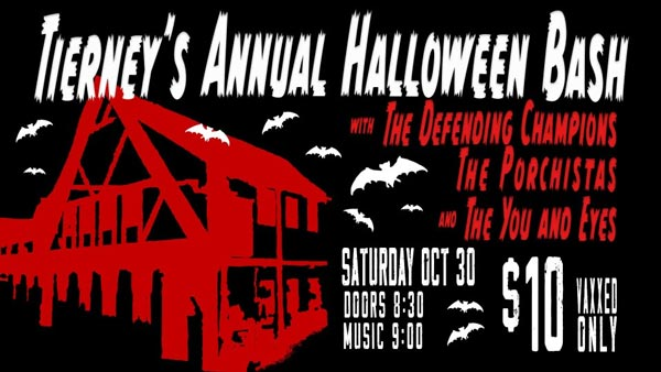 Tierney Tavern's Annual Costume Halloween Bash Returns October 30th