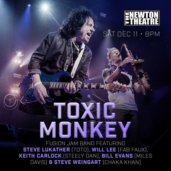 Toxic Monkey To Perform At Newton Theatre On December 11th