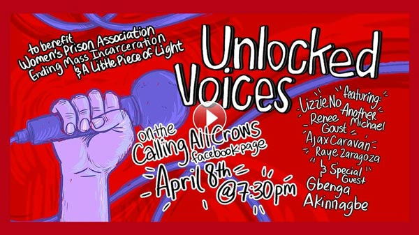 Unlocked Voices Presents 5th Livestream Fundraiser Event On April 8