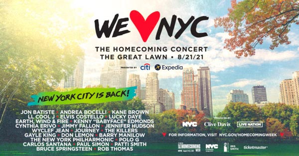 WE LOVE NYC: The Homecoming Concert To Take Place August 21st In Central Park